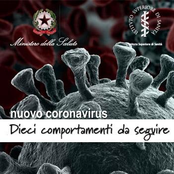 Decalogo per Prevenzione Coronavirus