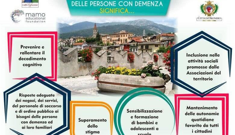 """Dronero diventa """"Comunità Amica"""" delle persone con demenza"""